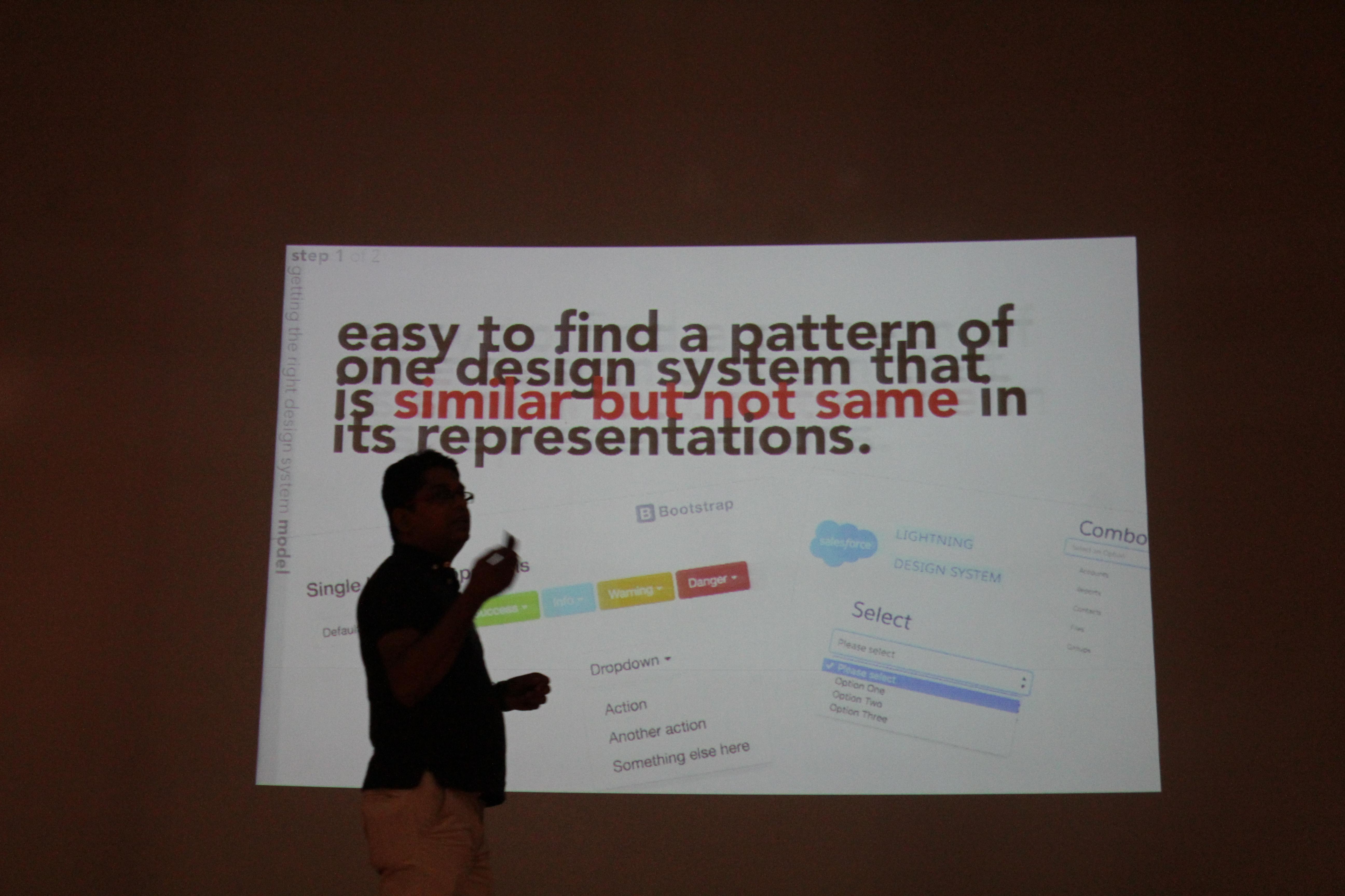 Talk at ux india pre conference meetup semantic design